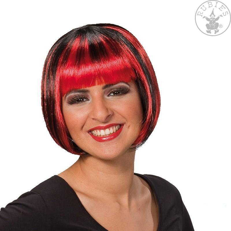 Parochne - Trixy červeno - čierna - karnevalová parochňa