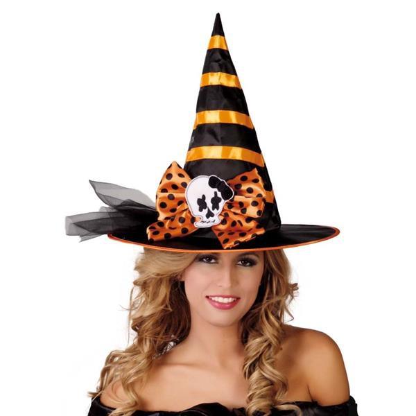 Klobúky a čiapky - Čierno- oranžový čarodejnícky klobúk