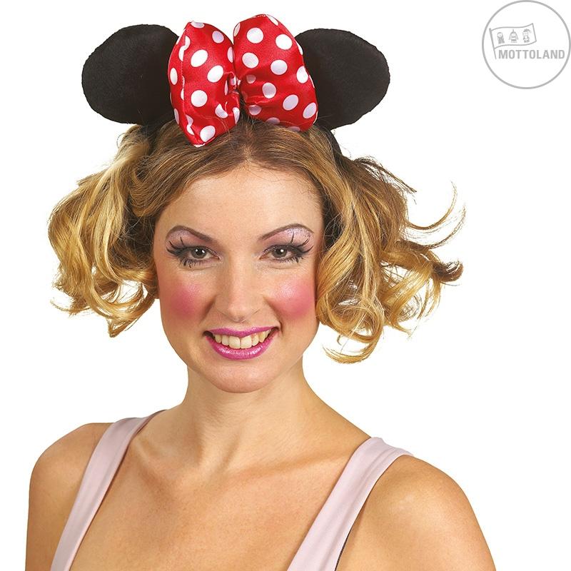Čelenky a ozdoby hlavy - Minnie - veľká čelenka s mašľou
