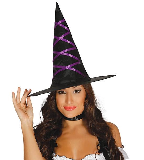 Klobúky a čiapky - Čarodejnícky klobúk so stuhou