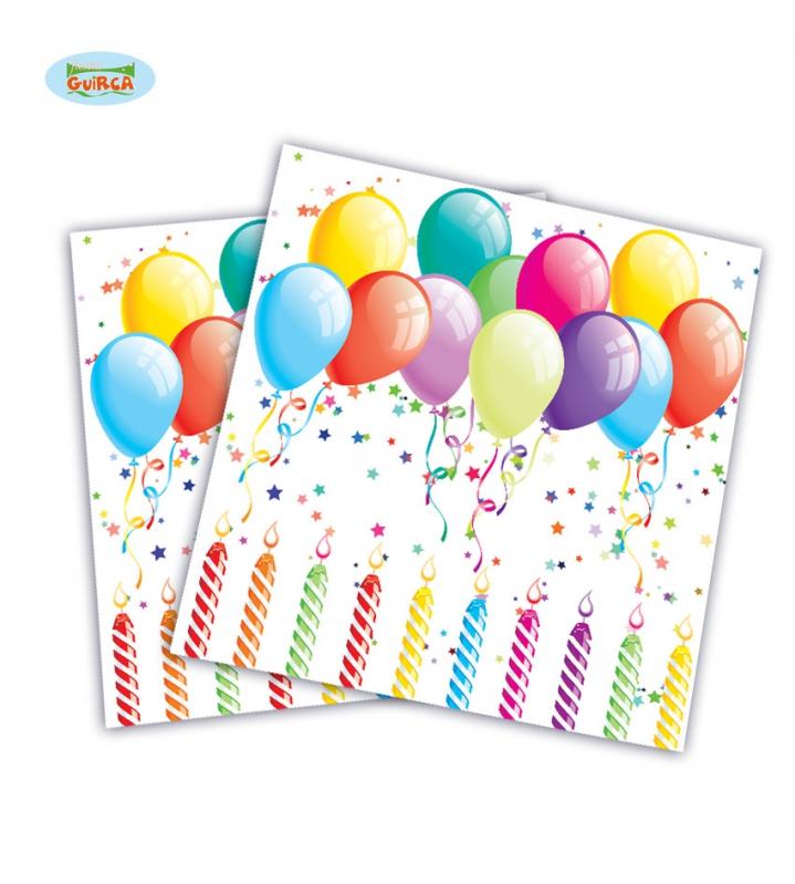 Doplnky podla zamerania - Pártyobrúsky s balóniky 20 ks