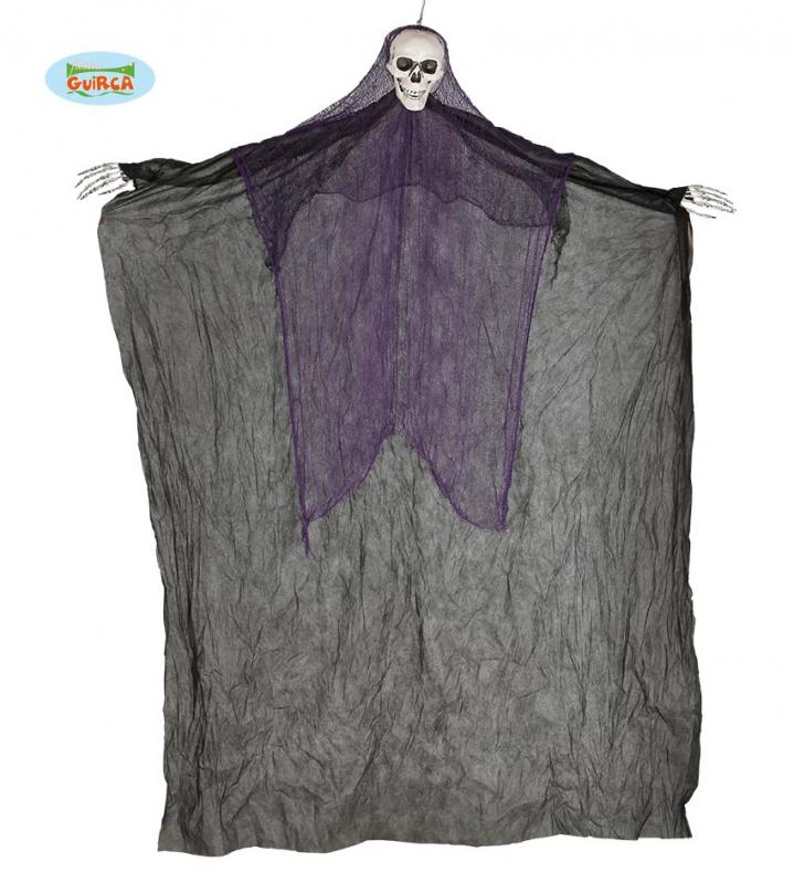 Doplnky - Závesné strašidlo čierne - skeleton