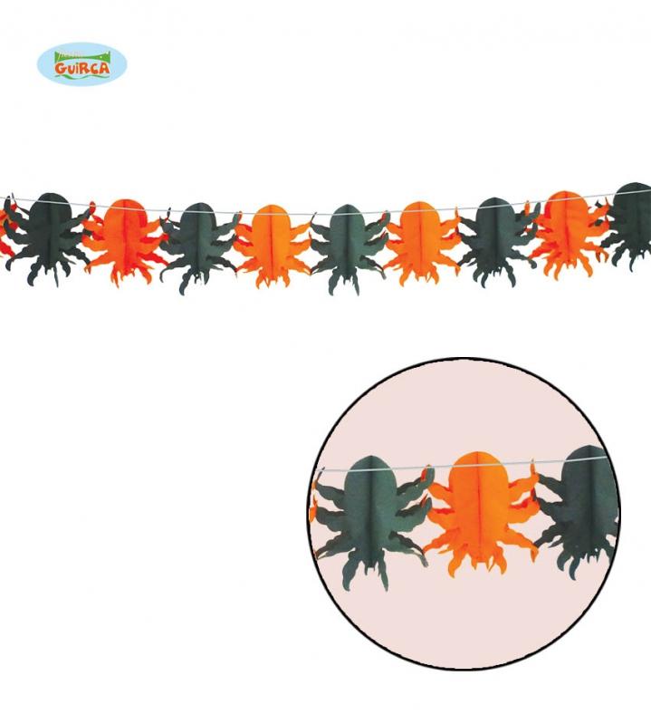 Doplnky - Girlanda s pavúkmi