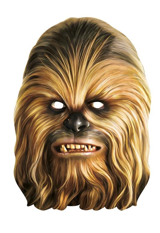 Masky na tvár - Chewbacca - kartónová maska pre dospelých