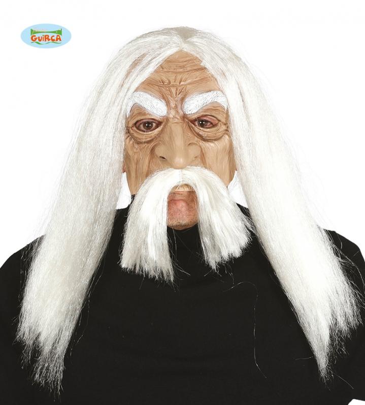 Masky - Latexová maska Methusalem s vlasmi
