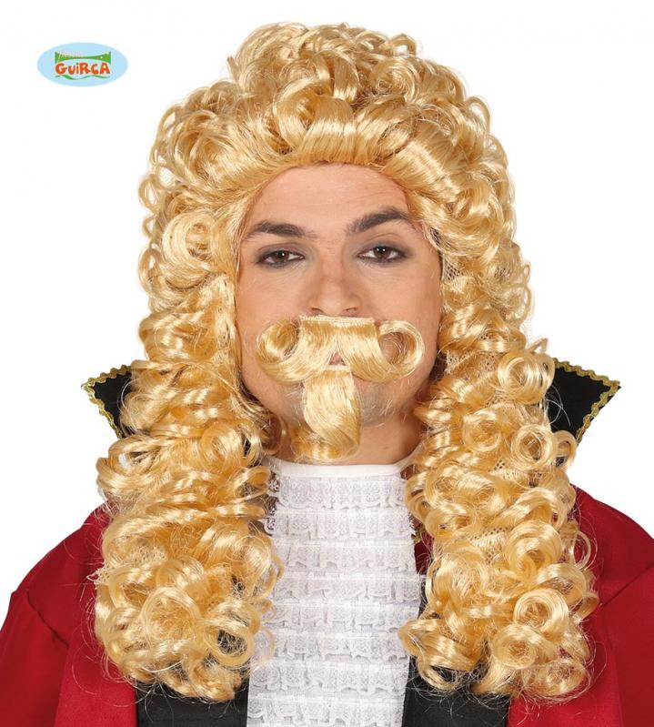 Parochne na karneval - Markíz - parochňa s briadkou blond
