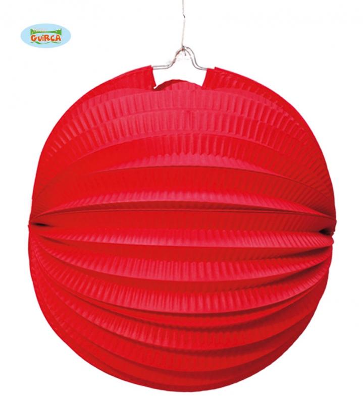 Doplnky - Lampion 26 cm červený