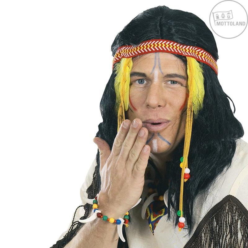 Parochne - Indiánska parochňa pánska s čelenkou a zdobením