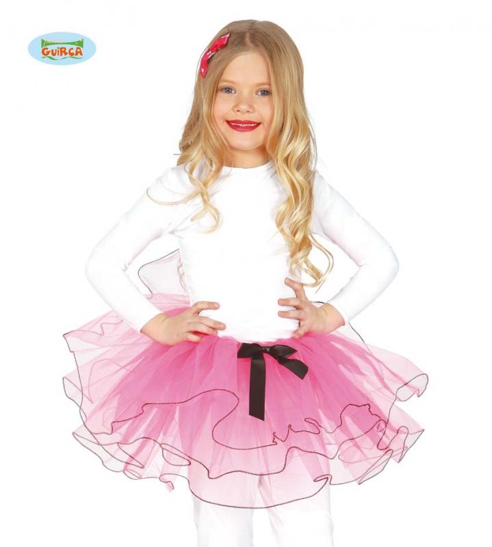 Kostýmy - Detská tutu sukienka 25 cm ružová