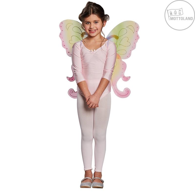 Doplnky - Detská motýlie krídla dúhová