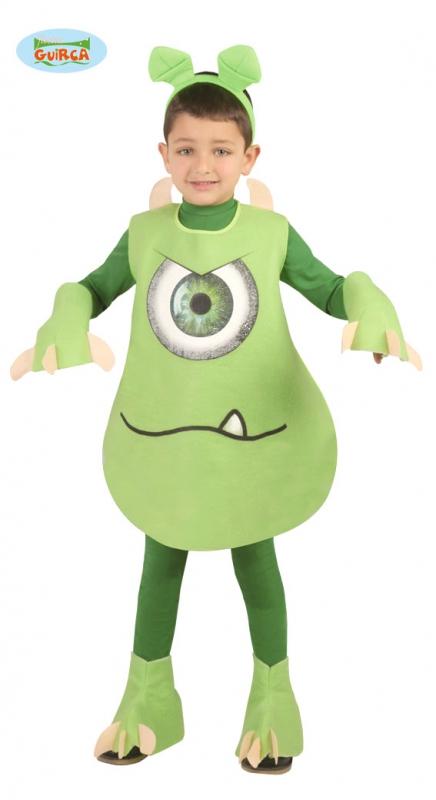 Kostýmy - Zelené detské monštrum