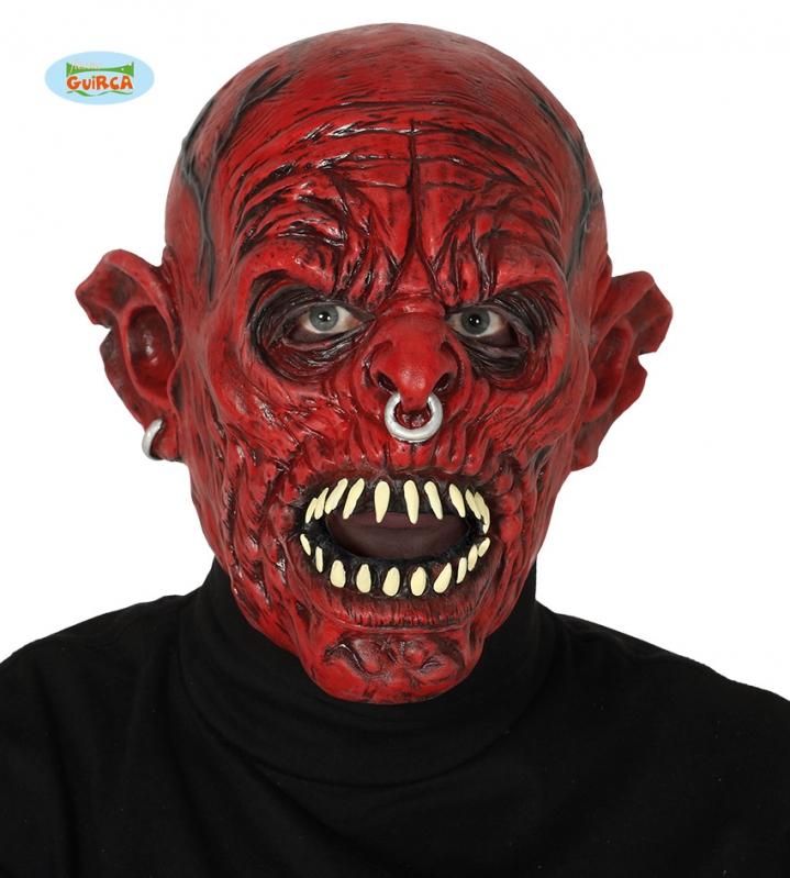 Masky na tvár - Červené monštrum - maska