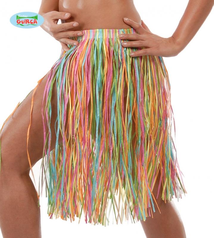 Doplnky podla zamerania - Havajská sukňa s kvetmi multicolor - 45 cm