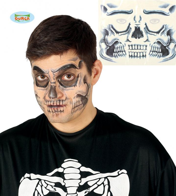Doplnky podla zamerania - Tetovanie na tvár - smrtka