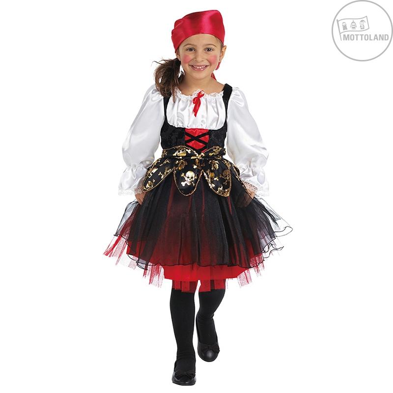 Výpredaj, zľavy - Pirátský kostým dětský s šátkem na hlavu - VADA