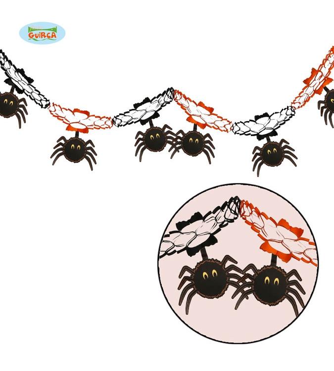 Doplnky - Girlanda s pavouky 15 x 200 cm