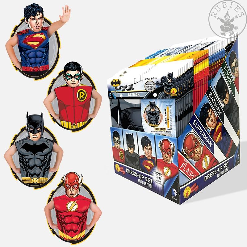 Karnevalové kostýmy - DC Boys Party Pack - 1 ks licenčné tričko