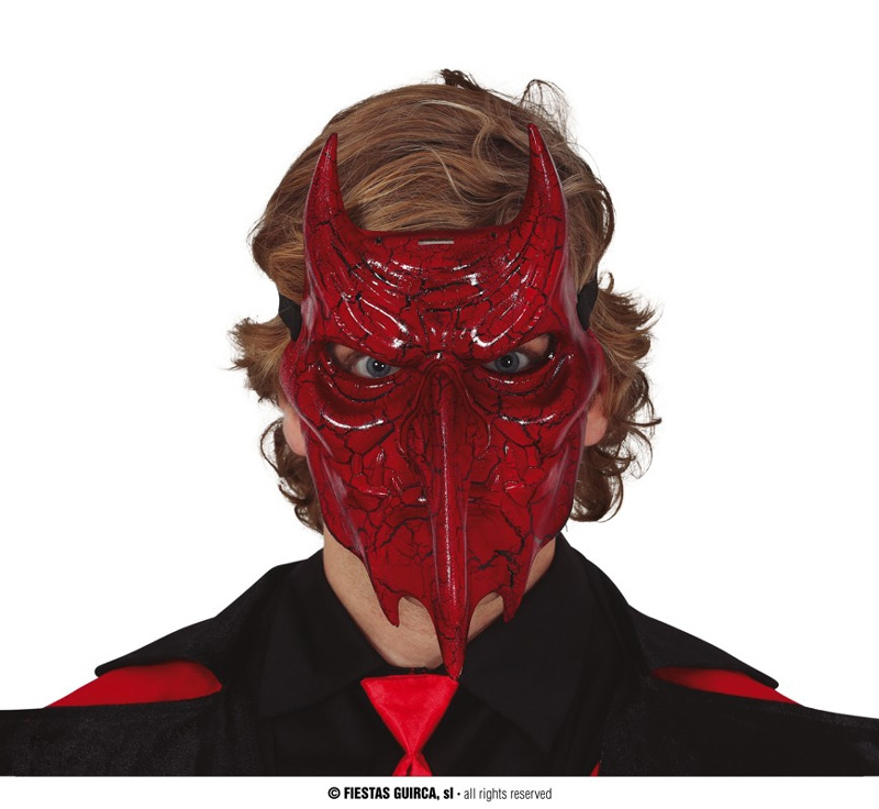 Masky - Diabolská maska s rohmi