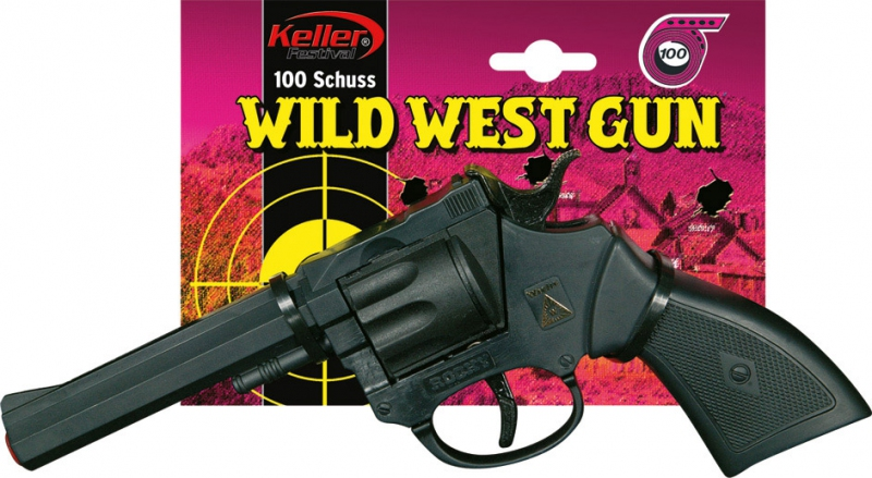Doplnky - Plastová pištoľ Rocky 100 rán