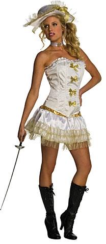 Karnevalové kostýmy - Sexy kostým mušketierka