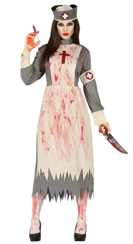 Kostýmy - Zombie ošetrovateľka - kostým