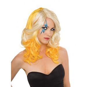 Lady Gaga Blond/Yelloe 2-Tone Wig - licenční paruka D