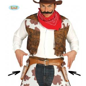 Opasek kovbojský se dvěma pouzdry a pistolemi