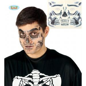 Tetování na obličej - smrtka