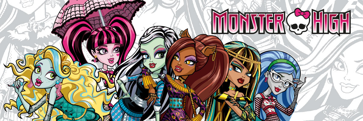 Monster High - kostýmy, parochne